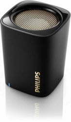 Philips BT100B/37 Wireless Mini Compact Portable Bluetooth Speaker with Built-..