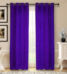 Bombay Dyeing 214 cm (7 ft) Polyester Door Curtain (Pack Of 2) Geometric, Purple