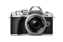 Olympus OM-D E-M10 Mark III Mirrorless Micro Four Thirds Digital Camera with 14-42mm EZ Lens & 16GB SDHC Card (Black) (Silver)