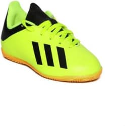 ADIDAS Boys Lace Football Shoes Light Green
