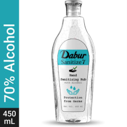 Dabur Hand Sanitizing Rub Hand Sanitizer Bottle 450 ml