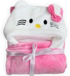 My New Born Animal Single Swadding Baby Blanket Polyester, Pink
