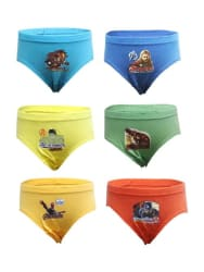 Bodycare Kids Multicolored Cotton Printed Briefs (Pack of 6)