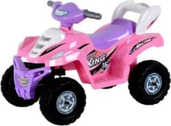 Toyhouse Desert King Small ATV Bike 6V Rechargeable Rideons & Wagons Battery Operated Ride On Pink