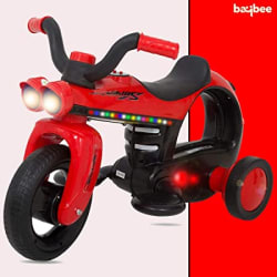 Baybee Battery Operated Ride On Bike for Kids/Toddler Bikes for Babies/Children Bike-Kids Bike for boy-Baby Bike-Recharable Electric Bike for Kids Suitable Babies for Boys & Girls (Red)