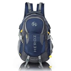 HEROZ Hammer Unisex Nylon 45 L Travel Laptop Backpack Water Resistant Slim Durable Fits Up to 17.3 Inch Laptop Notebook (All) (Grey & Navy Blue)