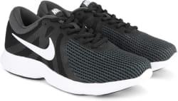 Nike REVOLUTION 4 Running Shoes For Men Green, Black