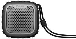 Photron P10 Wash IPX5 Waterproof Shockproof Wireless 10W RMS Super Bass Mini Metal Aluminium Alloy Portable Bluetooth Speaker with Mic (Black)