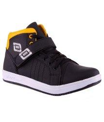 Aadi Black Canvas Casual Shoes