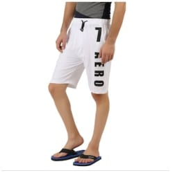 HOTFITS Men White Regular Fit Regular Shorts