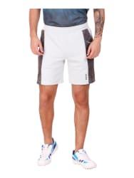 ALCIS Light Grey Regular Fit Printed Shorts