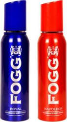 Fogg 1 Royal and 1 Napoleon Deodorant Combo Pack of 2 Deodorant Spray - For Men 300 ml, Pack of 2