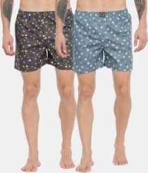 Joven Printed Men Boxer Pack of 2