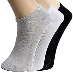 Tex Homz Men s Cotton Solid Ankle Socks for sports, Running, Yoga