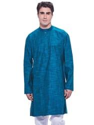 Manyavar Men s Full Sleeve Knee-Long Blended Kurta (ML11768)