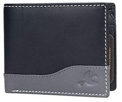 Hornbull Buttler Men s Black Genuine Leather RFID Blocking Wallet