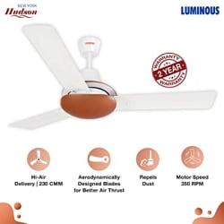 Luminous New York Hudson 1200mm Ceiling Fan (Pearl White)