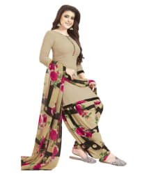 shree jeenmata collection Brown Crepe Dress Material - Buy shree jeenmata collection Brown Crepe Dress Material Online at Best Prices in India on Snapdeal