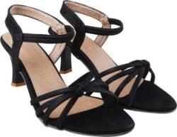 RINDAS Women Black Heels