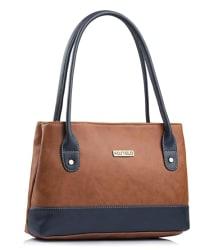 Fostelo Women s Zara Handbag (Tan) (FSB-1051)