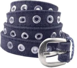 Sulit Women Evening, Party, Formal, Casual Blue Artificial Leather, Canvas Belt