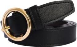 LOOPA Women Formal Black Synthetic Belt