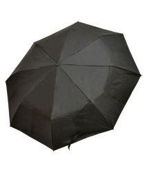 Imported Black Polyester 3 Fold Umbrella For Men