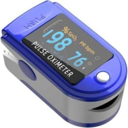 Bluebird Fingertip Pulse Oximeter Blood Oxygen Saturation and Heart Rate Monitor Pulse Oximeter Blue