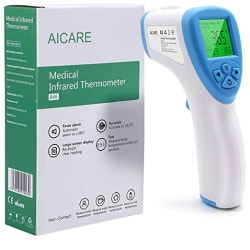VRcast forehead infrared thermometer (Non Contact) Thermal Gun For Body Fever | Fastest And Most Accurate Digital Temperature Scanner with 32 Readings Storage Memory | CE, RoHS Certified