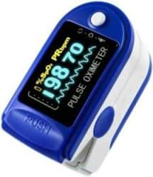 AMLIK New Improved Instant Read OLED Digital Finger Pulse Oximeter Spo2h Blood Oxygen Monitor Arterial Saturation Monitor Pulse Oximeter MULTUCOLOR