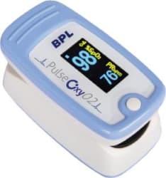 BPL Medical Technologies Pulse 02 Finger Pulse Oximeter Blue & White