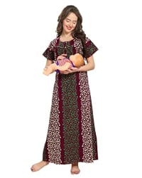 AV2 Women s Cotton Maternity and Feeding Nighty