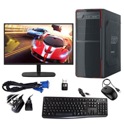 """Gandiva Desktop Computer (Core I5 3RD Gen CPU/8GB RAM/18.5"""" Monitor/USB Keyboard & Mouse/WiFi) with Windows 10 & MS Office (Trail Version) and Antivirus(Free Version) Pre-Installed (500GB HDD)"""