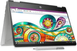 HP Pavilion x360 Core i3 8th Gen - (4 GB/256 GB SSD/Windows 10 Home) 14-dh0107TU 2 in 1 Laptop(14 inch, Natural Silver, 1.59 kg, With MS Office)