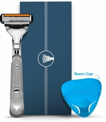 LetsShave Pro 4 Shaving Trial Kit for Men - Pro 4 Blade + Razor Handle + Razor Cap