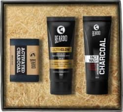 Beardo Activated Charcoal Soap, Face Wash & Ultraglow Face Lotion 3 Items in the set