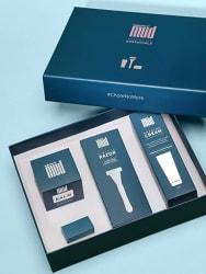MensXP Mud Shaving Kit Essentials (With Razor, Shaving Cream, After Shave Balm & Blade Refill)