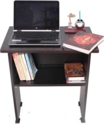 Ebee Engineered Wood Computer Desk Modular, Finish Color - Brown
