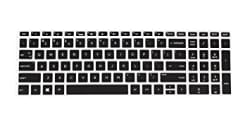 Saco Keyboard Protector Silicone Skin Cover for HP 15-bs145tu 15.6-inch Laptop -Black with Clear