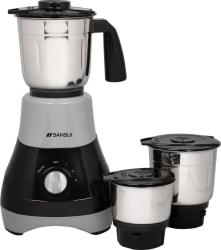 Sansui ProHome Melange 500 W Mixer Grinder Grey, Black, 3 Jars