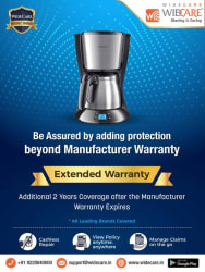 WideCare 2 Years Extended Warranty for Coffee Makers