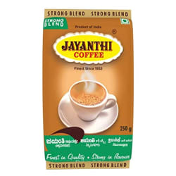 JAYANTHI Strong Blend, Coffee Contains 35% Chicory, Coarse Or Filter Grind, 250G X 4