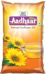 Aadhar Refined Sunflower Oil Pouch 1 L