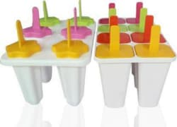 Uratech Summer Special 14 Pcs Ice Cream Candy Kulfi Maker Popsicle Mould Set (Multicolor)combo White, Multicolor Plastic Ice Cube Tray Pack of2