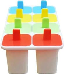 ICY 100 ml Manual Ice Cream Maker (White) White Plastic Ice Cube Tray Pack of1