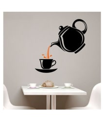 Asmi Collection A Cup of Tea for Cafe, Restaurants, Kitchen Foods & Beverages Sticker ( 60 x 60 cms )