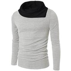 Pause Plain Grey Cotton Blend Casual Men s T-Shirt