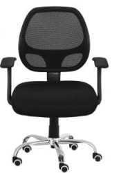 Da URBAN Airex Fabric Office Executive Chair Black