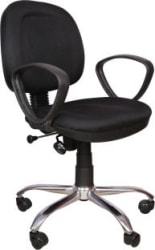 Rajpura 803 Cushioned Low Back Revolving Chair with push back mechanism in Black Fabric Office Executive Chair Black