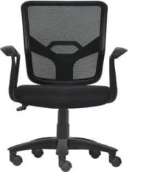 Da URBAN Graco Medium Back Fabric Office Executive Chair Black